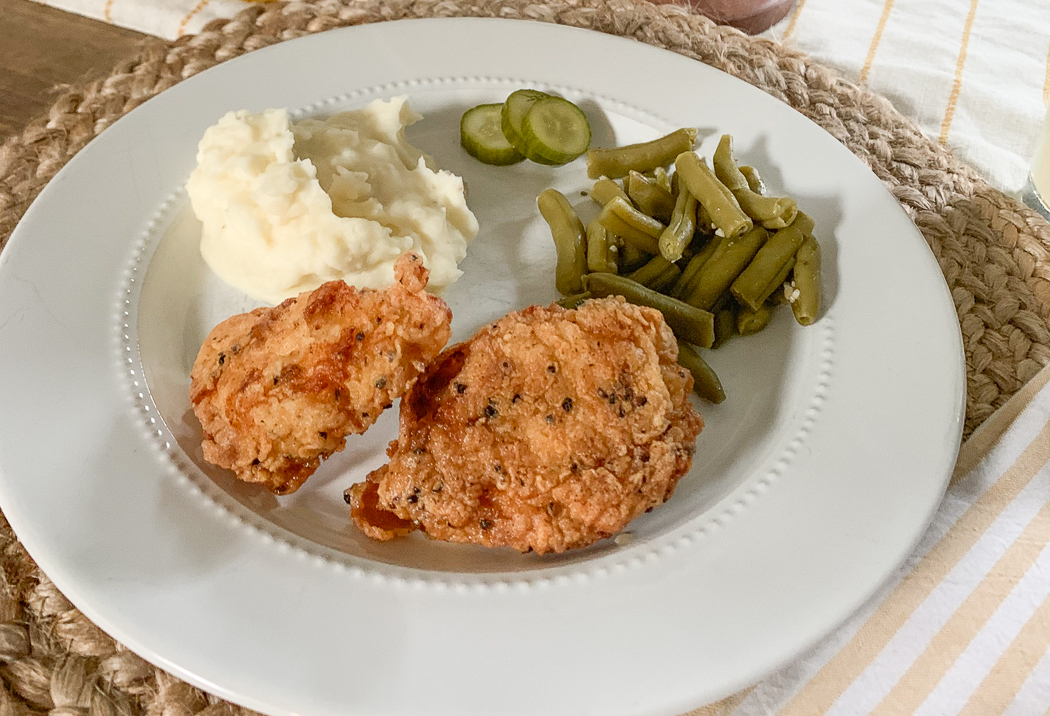 Southern Fried Chicken Dinner Plate
