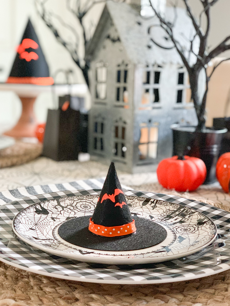 Witch Hat Halloween Place Setting