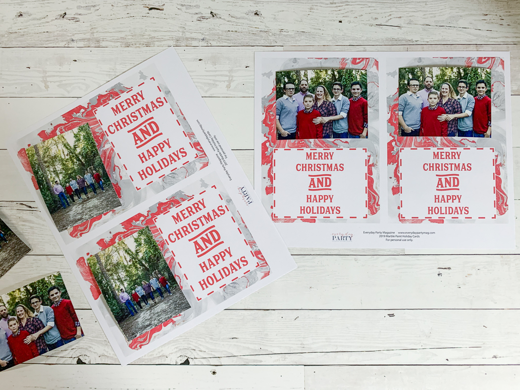 Printable Photo Christmas Cards