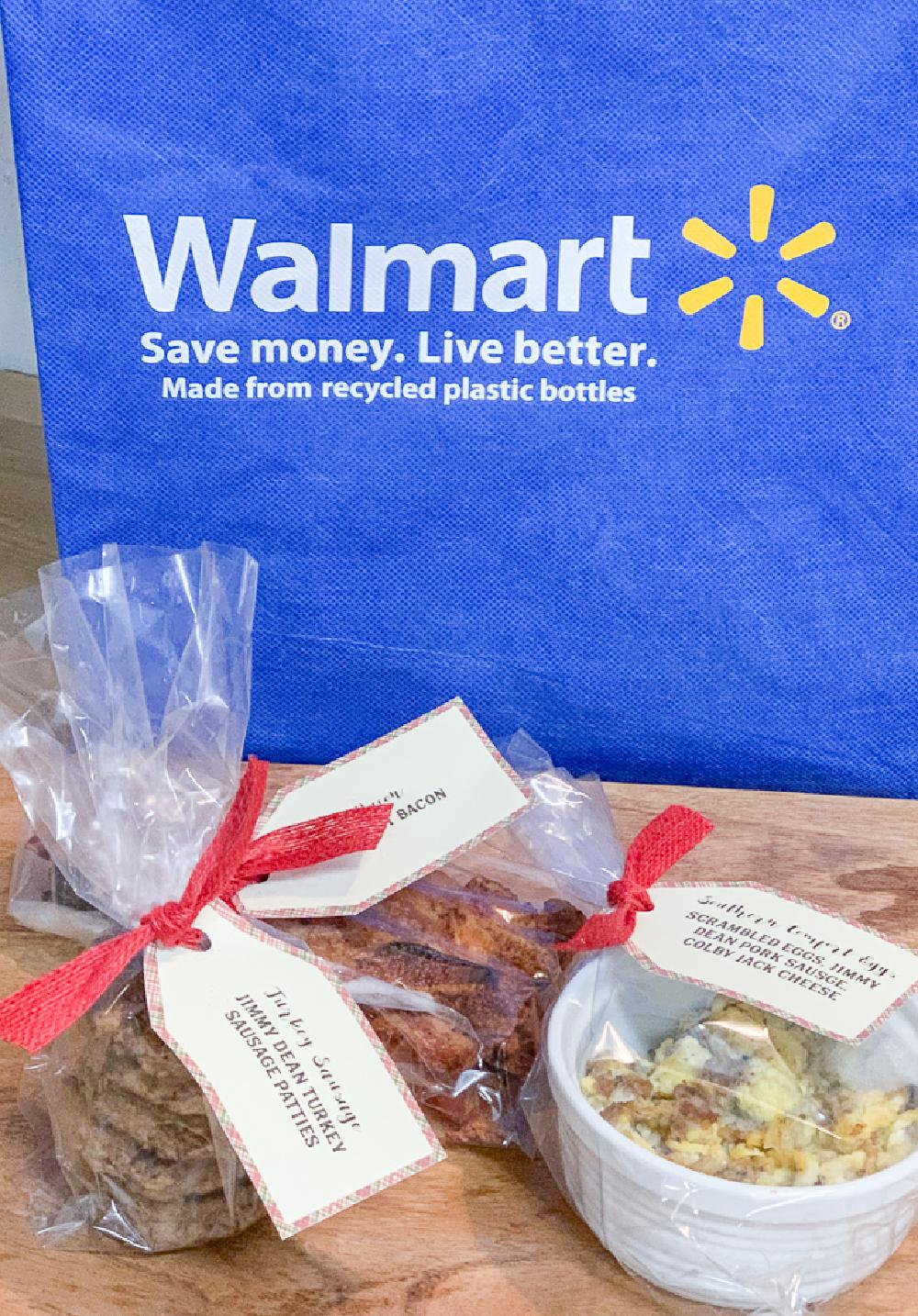Cello Bags with Breakfast Food Walmart Bag
