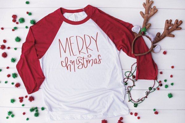 Merry Christmas Raglan Shirt
