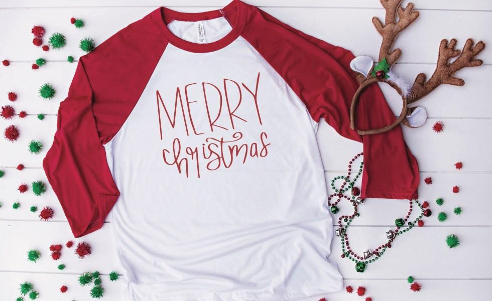 Merry Christmas Raglan Shirt