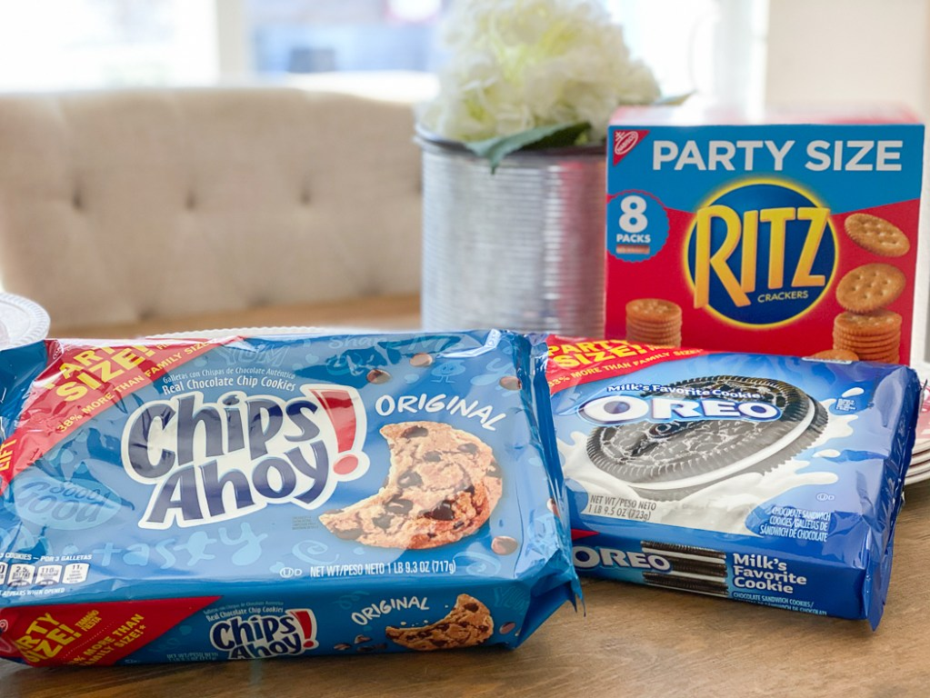 Party Size Chips Ahoy! Party Size RITZ Party Size OREO