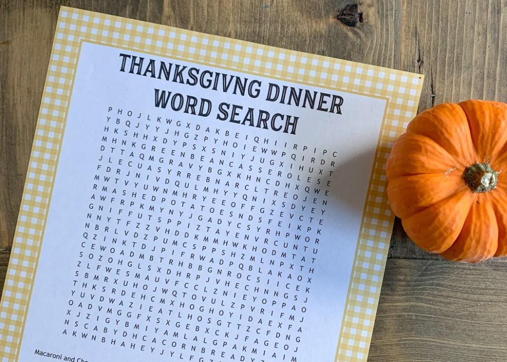Printable Word Search Pumpkin