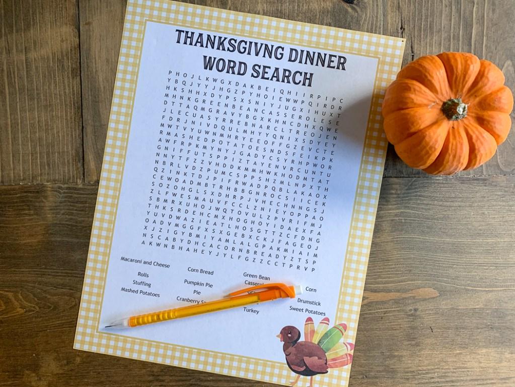 Printable Word Search Pumpkin