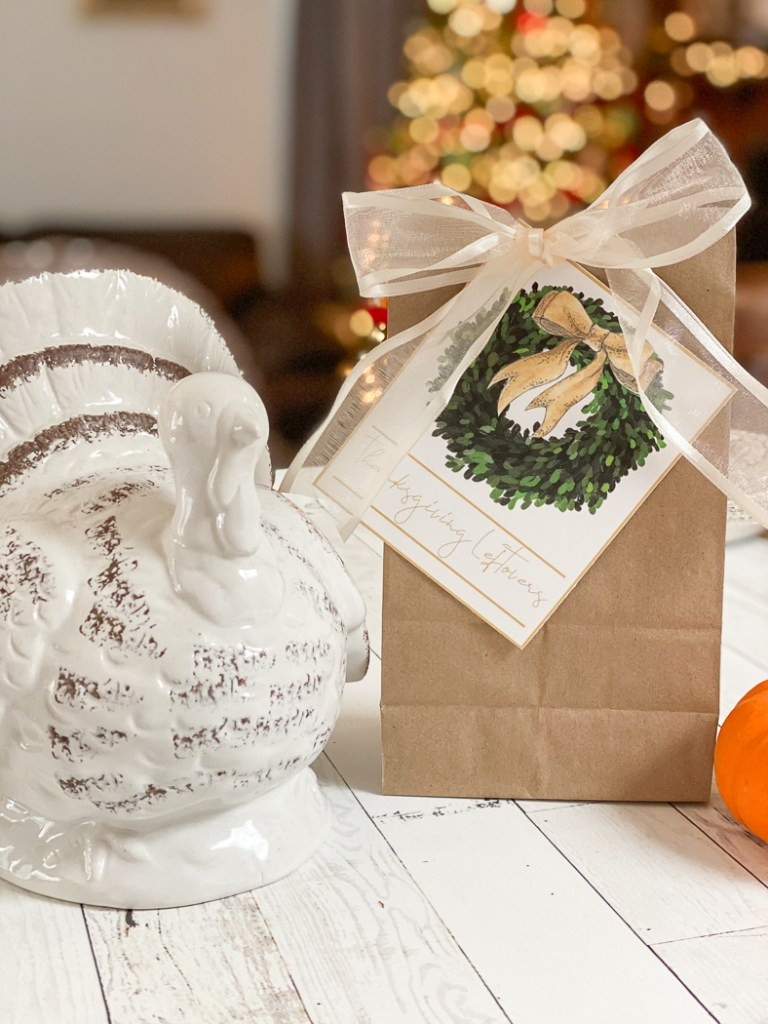 Thanksgiving Bag Ceramic Turkey