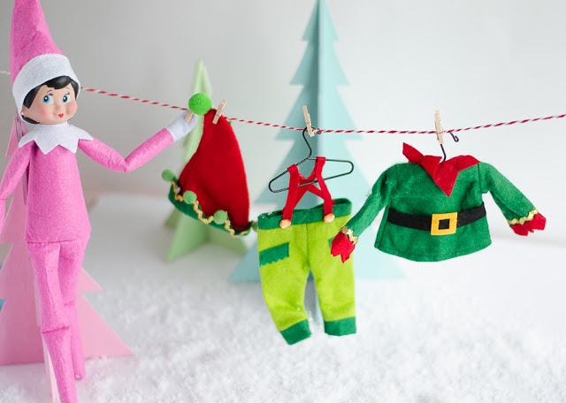 Elf on the Shelf Laundry Line