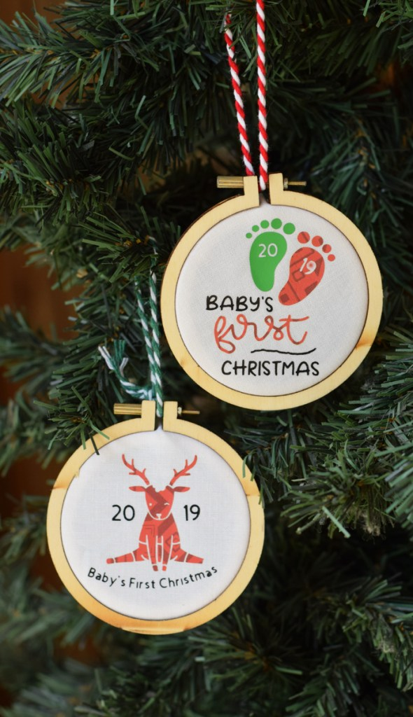 It Happens in a Blink Embroidery Hoop Ornament