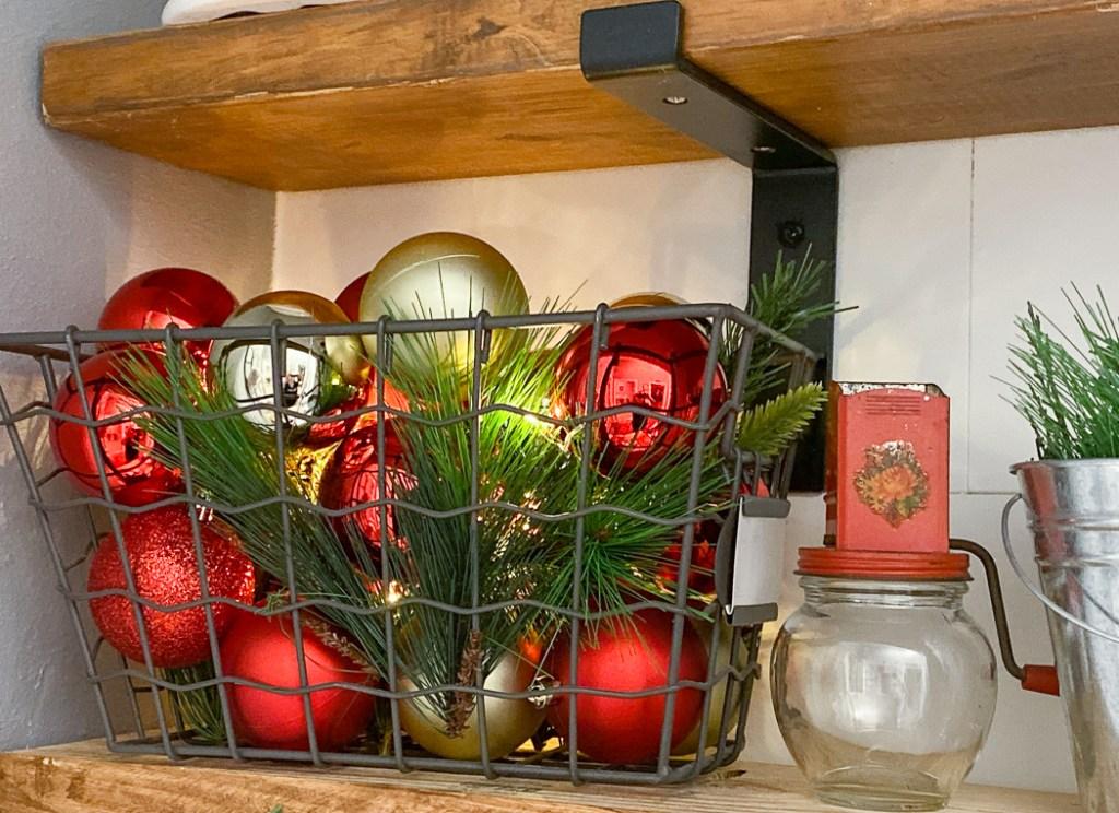 Farmhouse Ornament Basket