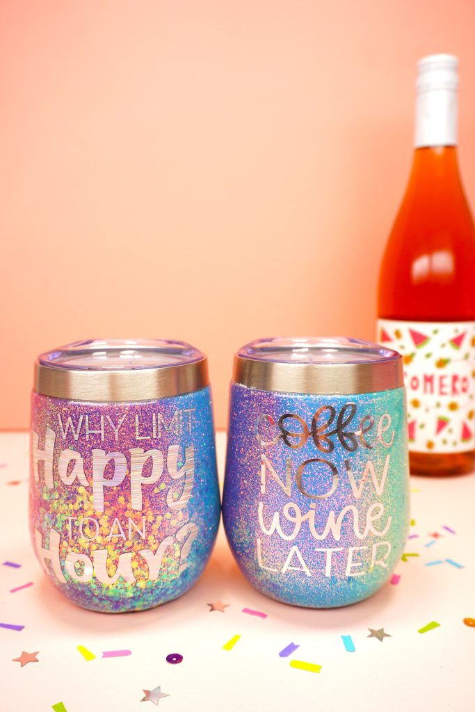 Happiness Is Homemade Glitter Tumblers