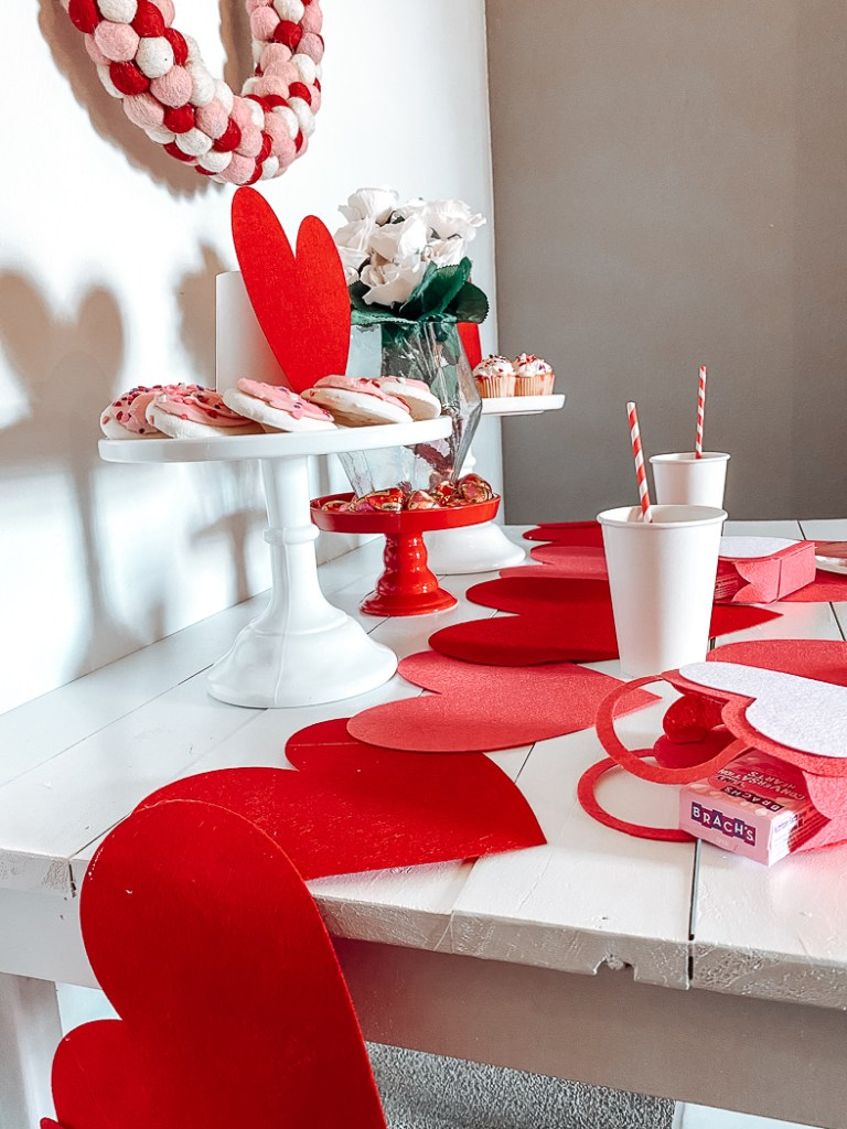 Kid's Valentine's Day Table