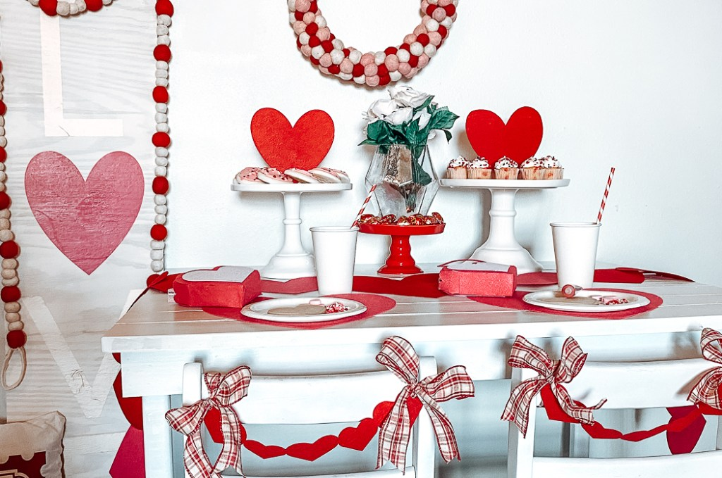 Kids Valentine's Day Party Table