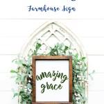 Amazing Grace SVG Sign