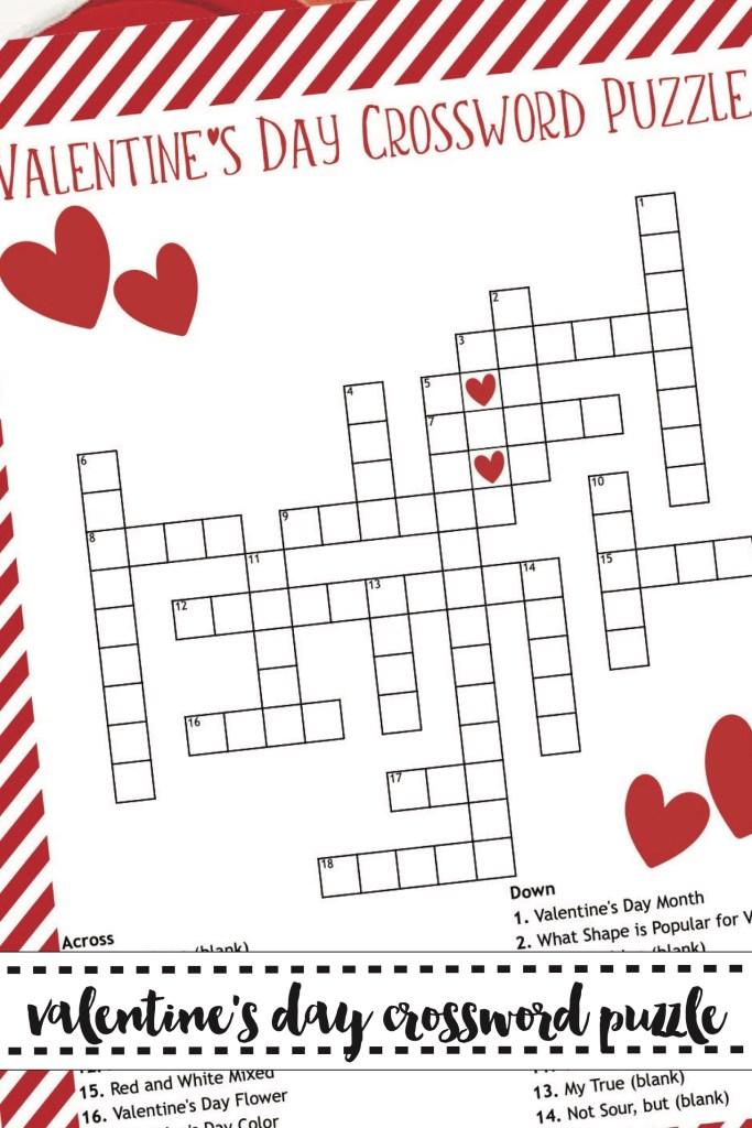 Free Printable Valentine's Day Crossword