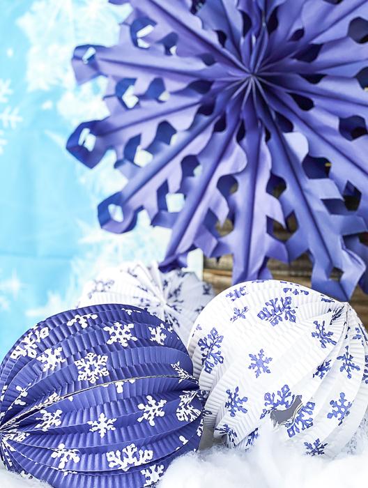 Snow Paper Lanterns