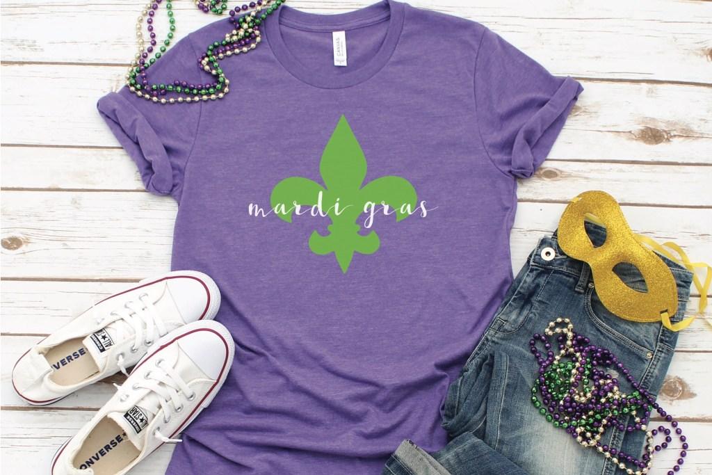 Fleur de Lis Mardi Gras Shirt