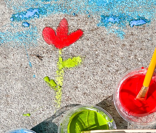Sidewalk Chalk Flower