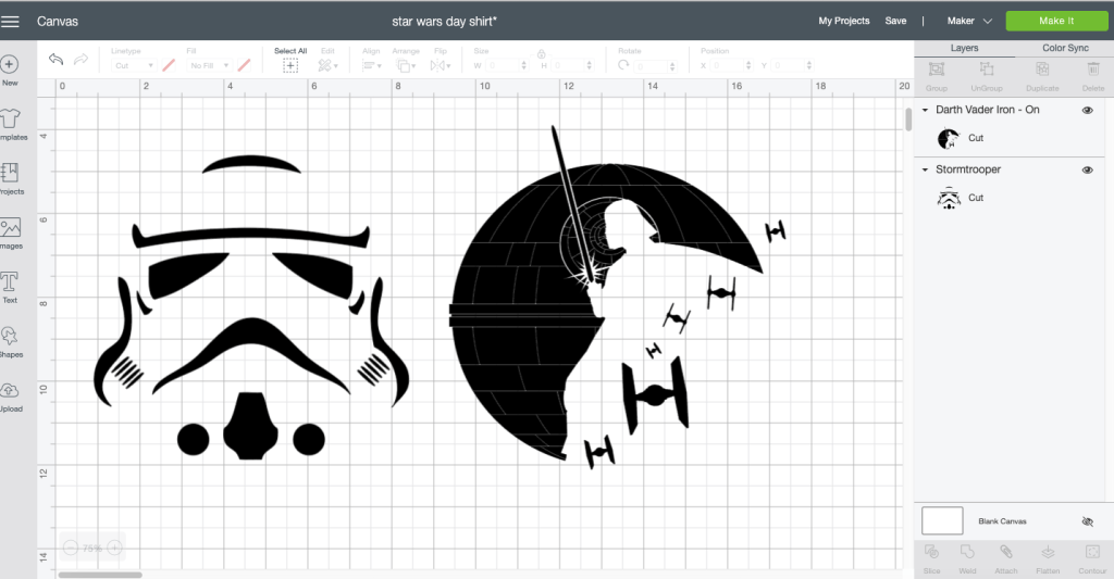 Star Wars Cricut Design Space