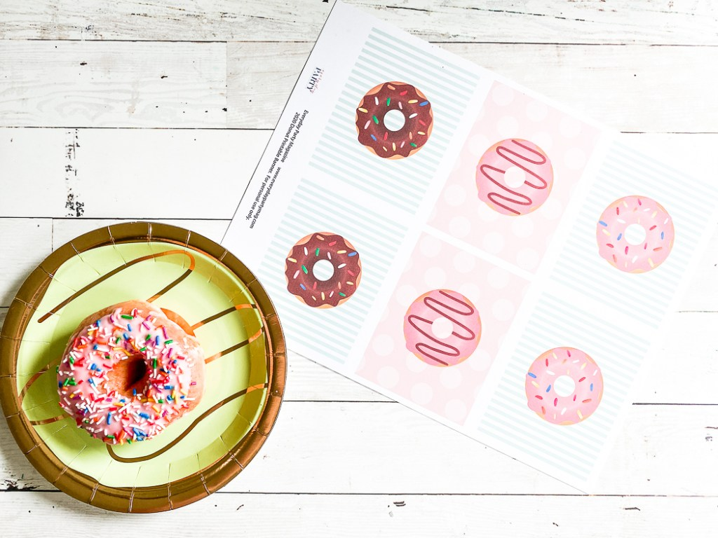 Printable Donut Tags Sprinkle Donuts