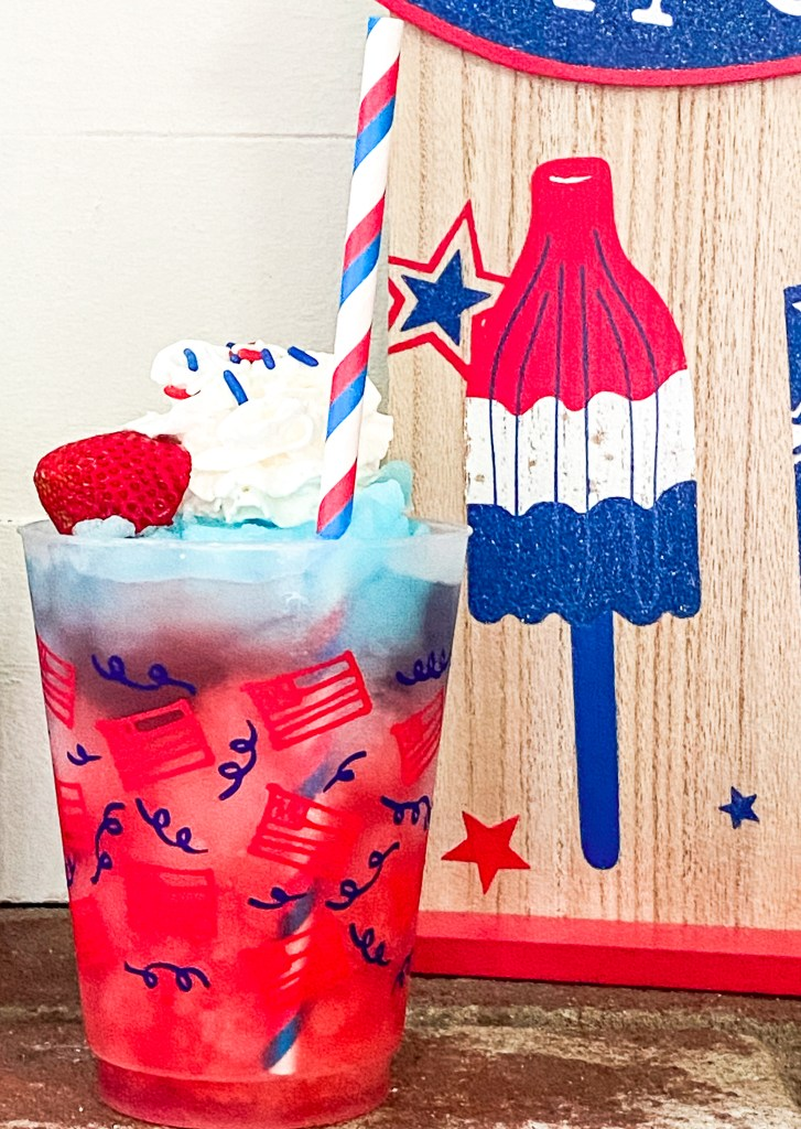 Red, white, and Blue Frozen Drink