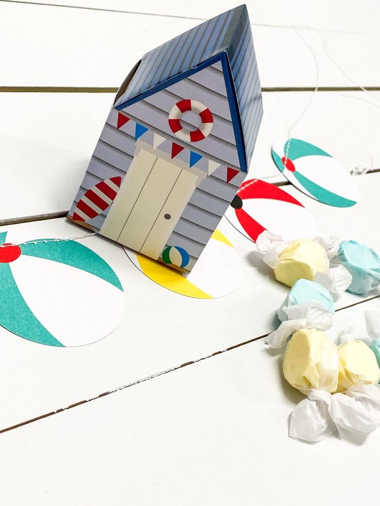 Beach Cottage Favor Box Salt Water Taffy