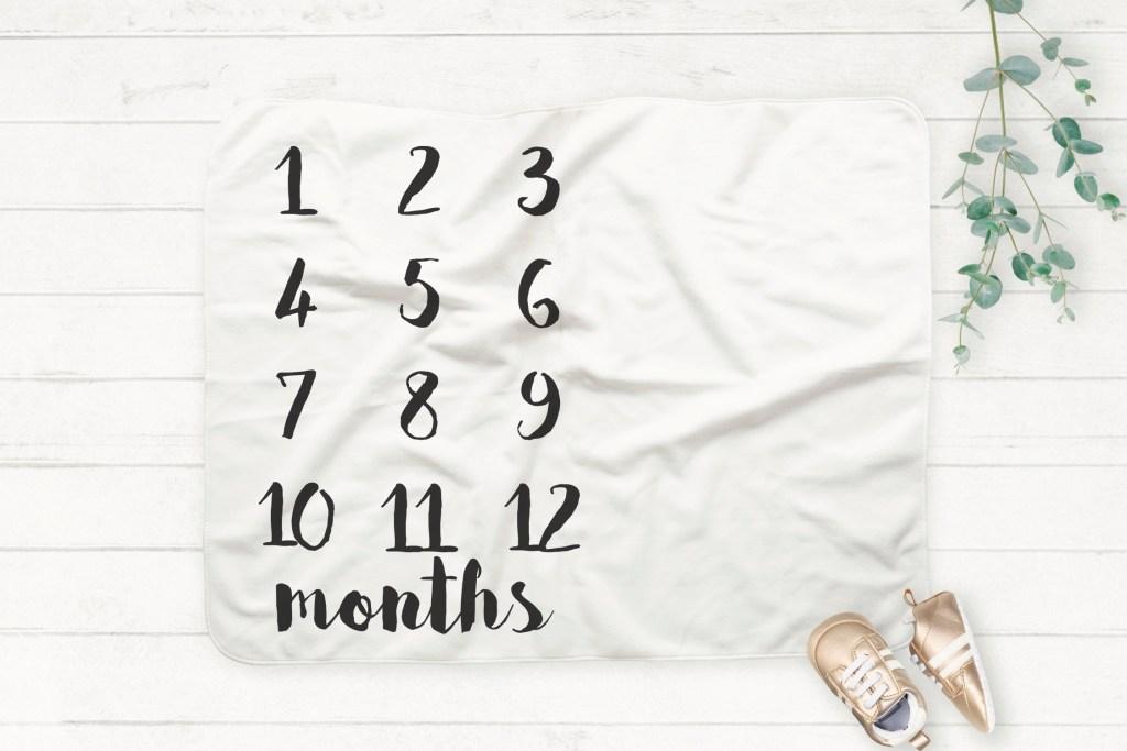 Milestone Baby Blanket