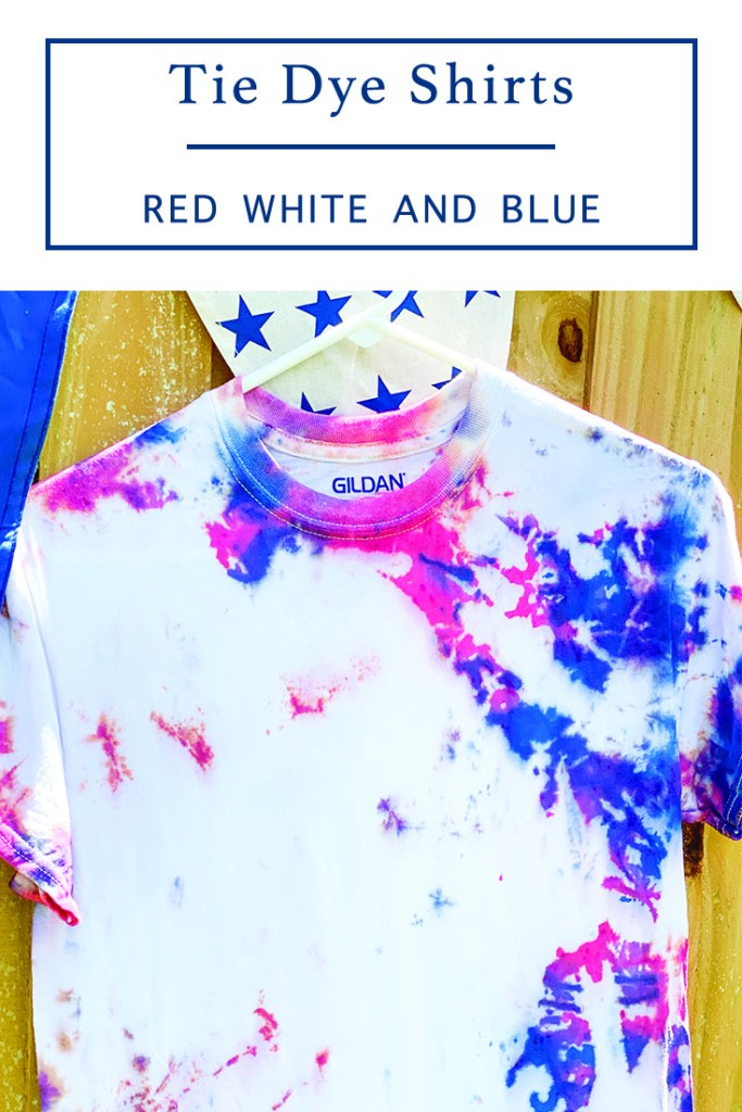 Red White And Blue Tie Dye Shirt