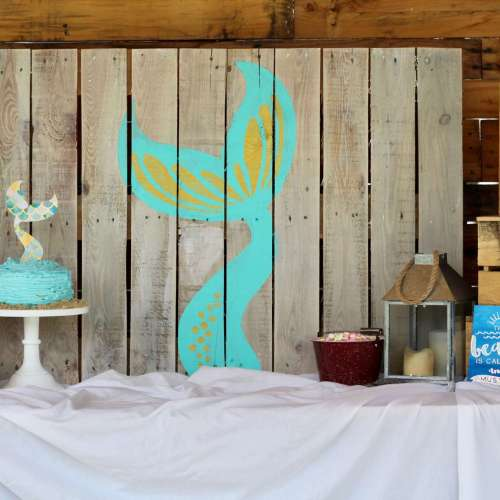 Mermaid Party Backdrop