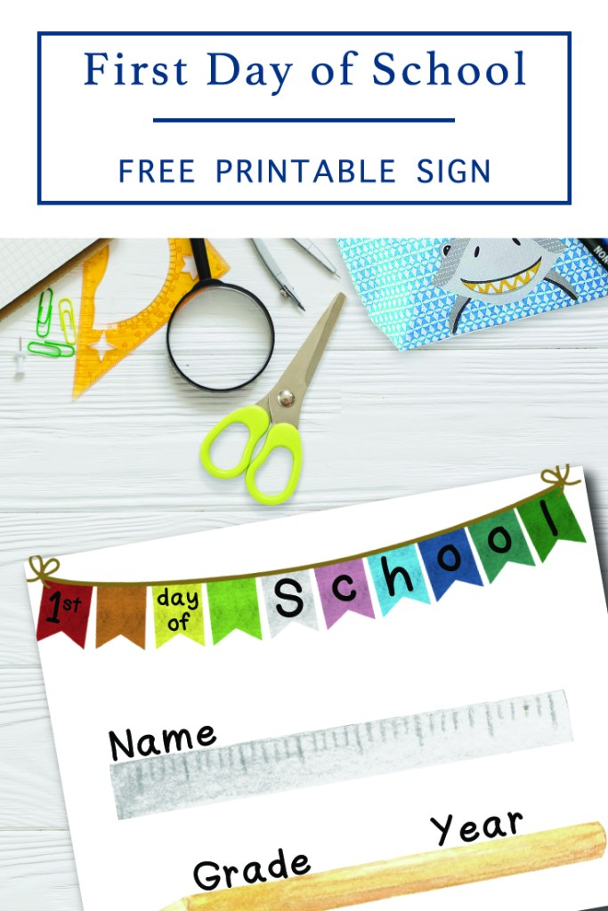 Kids Desk - First Day of School Sign