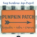 Orange Pumpkin Patch Sign