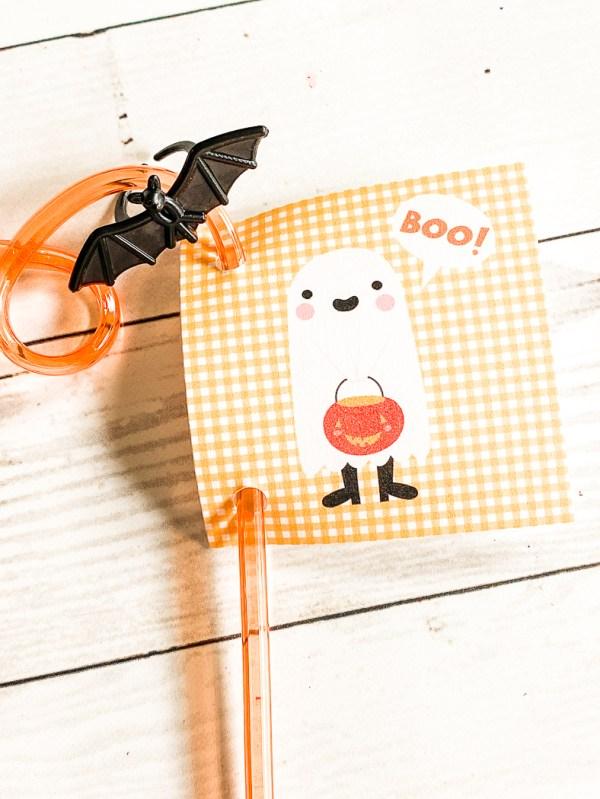 Boo Ghost Halloween Tag