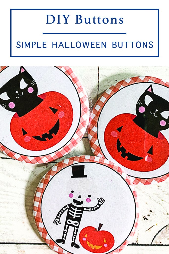 Halloween Buttons with WRMK Button Press