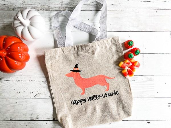 Hallo-Weenie Trick or Treat Bag