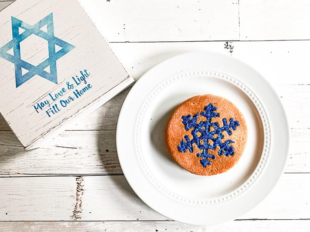 Snowflake Cookie Hanukkah Sign