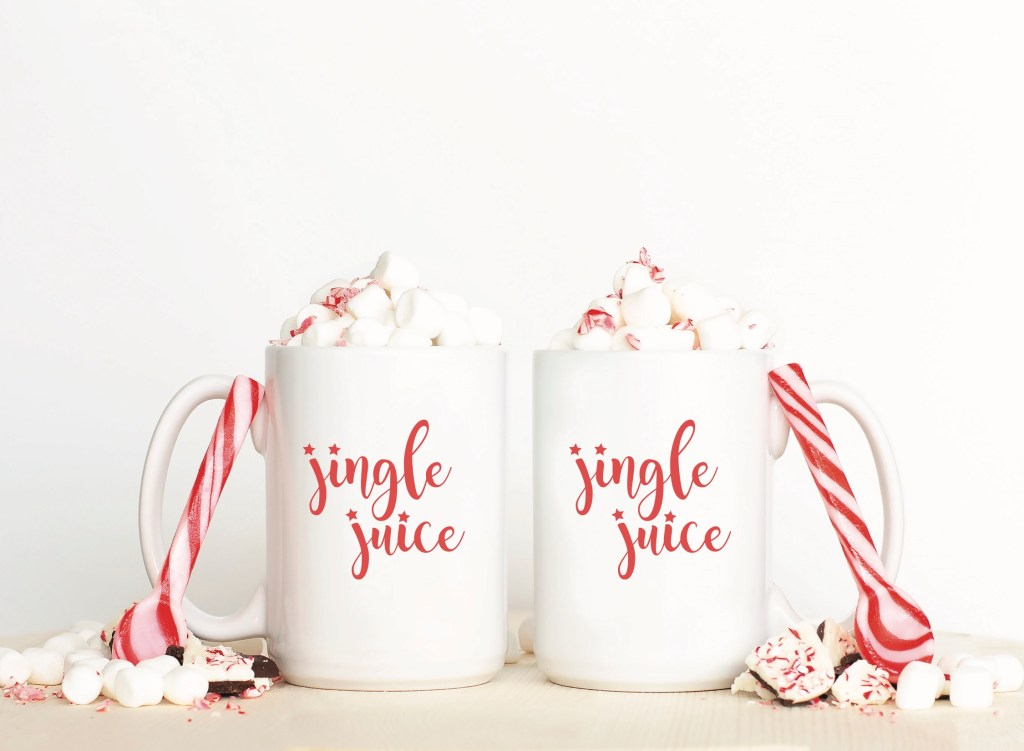 Jingle Juice Cocoa Mugs Candy Canes