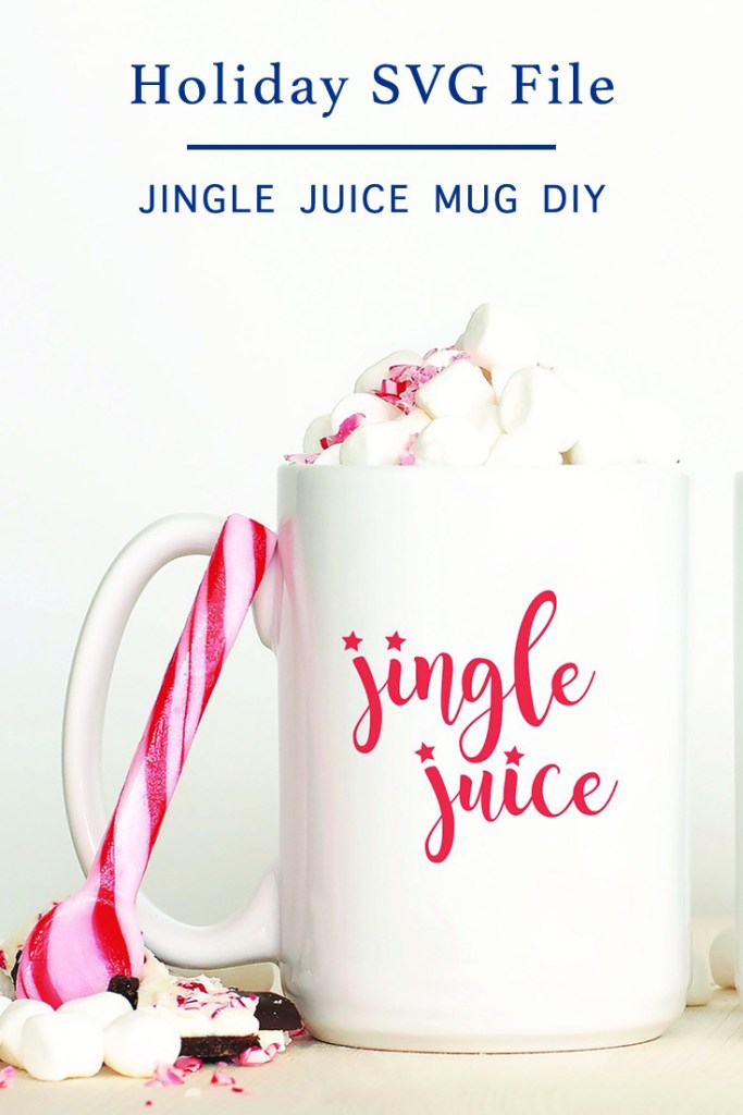 Jingle Juice Cocoa Mug Candy Cane
