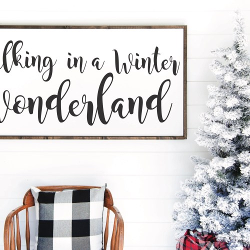 Winter Wonderland Sign Christmas Tree