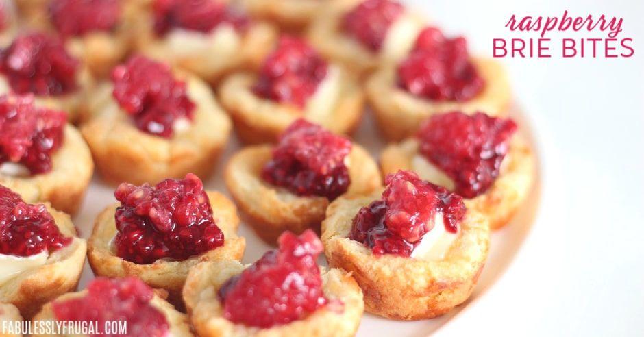 Raspberry Brie Bite Appetizers