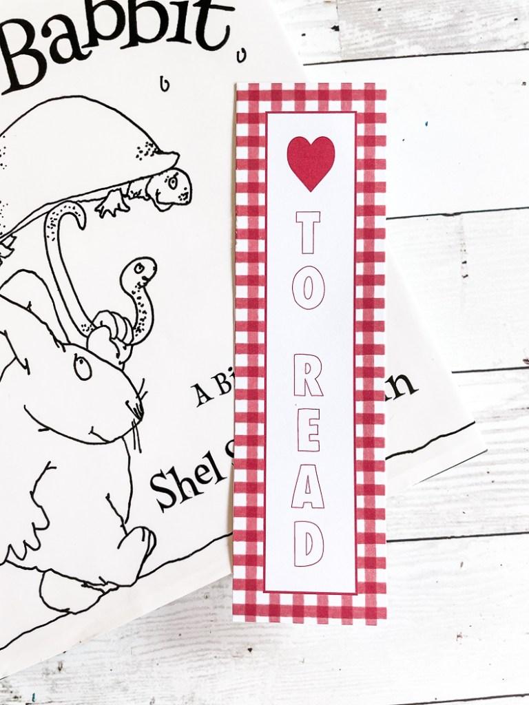 Love to Read Bookmark Shel Silverstein Book