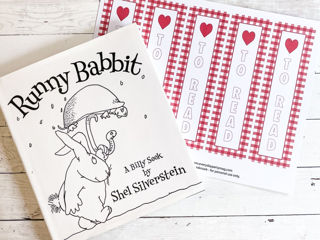 Runny Babbit Book Red Bookmarks