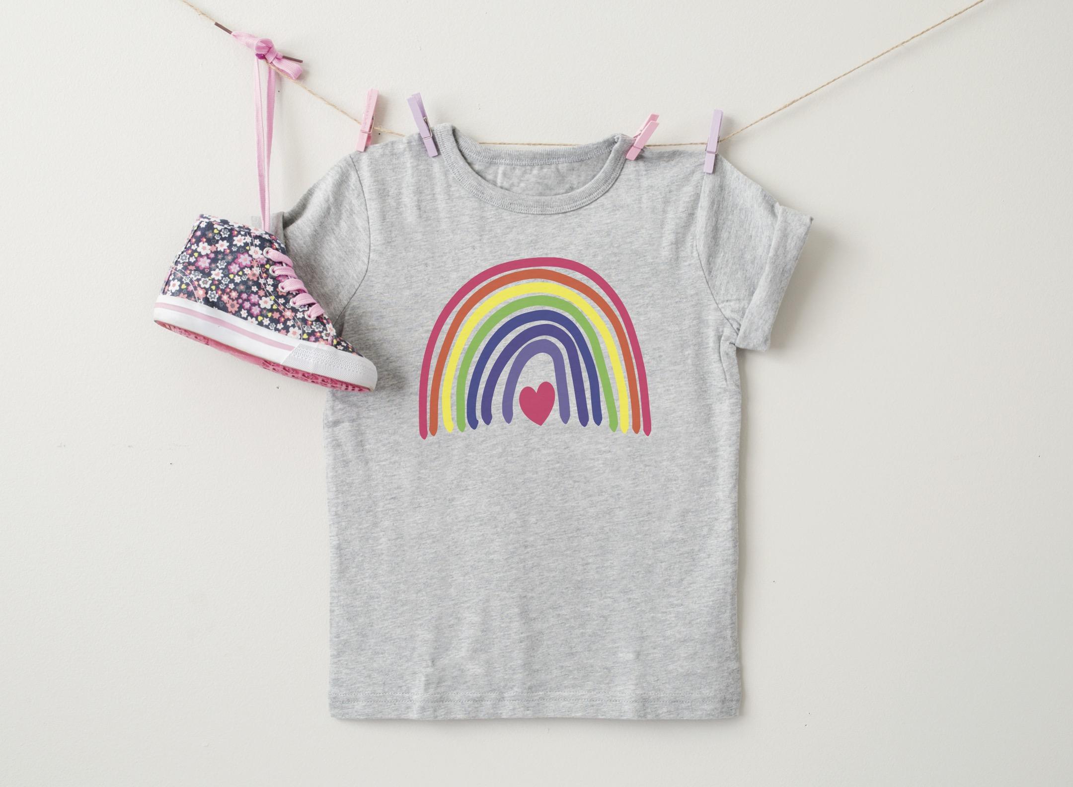 Adorable Hanging Rainbow Shirt