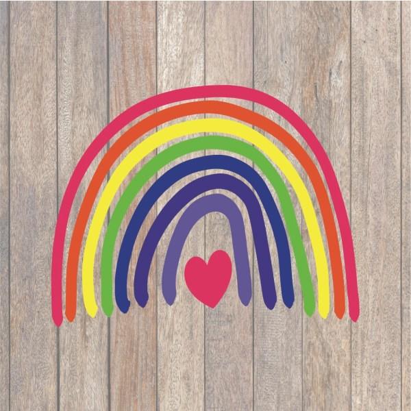 Hand Drawn Rainbow SVG
