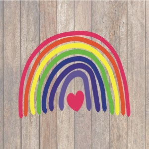 Hand Drawn Rainbow SVG