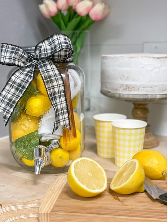 Lemons Drink Pitcher