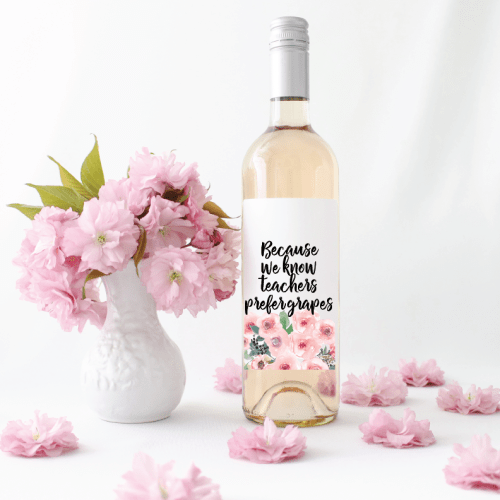 Flower Bouquet Wine Bottle