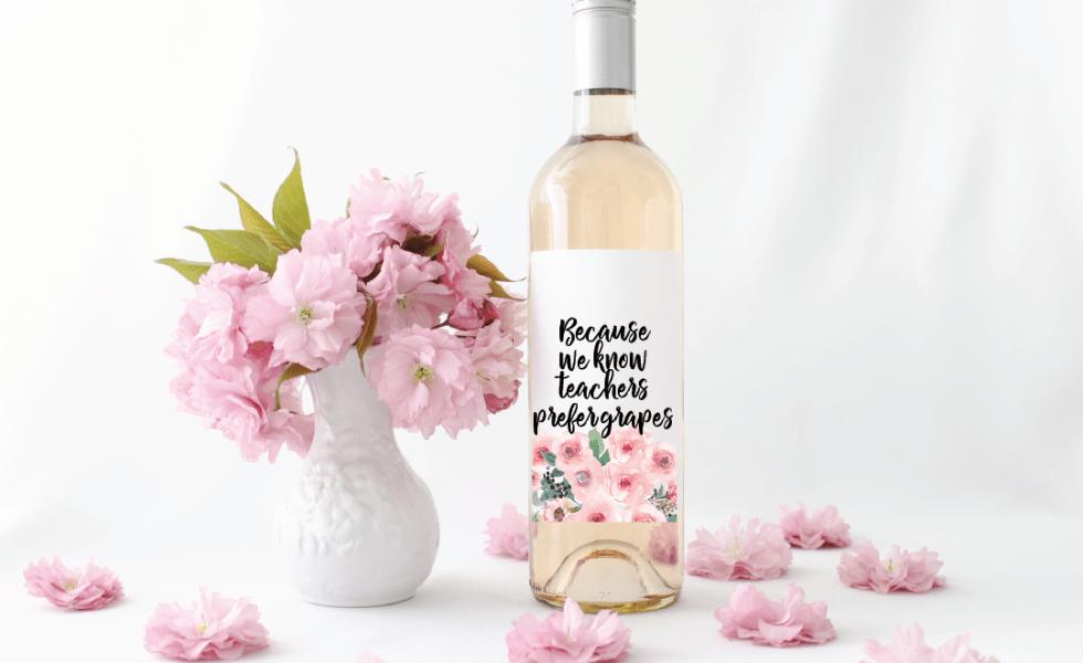 Flower Bouquet Wine Bottle