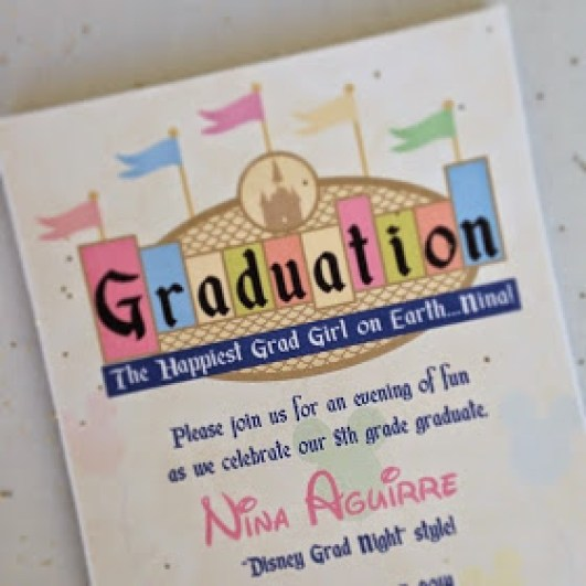Disney Themed Graduation Party