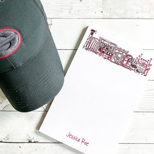 UGA Note Pad and Ball Cap