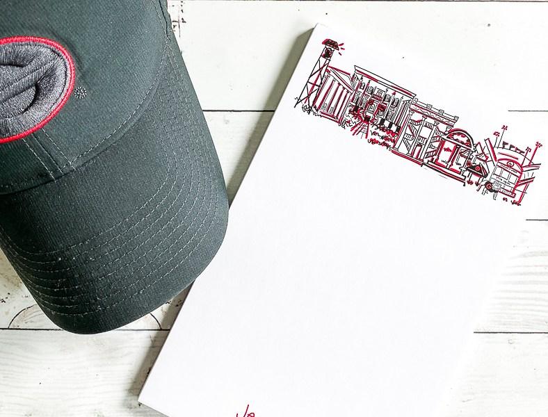 UGA Note Pad and Ball Cap