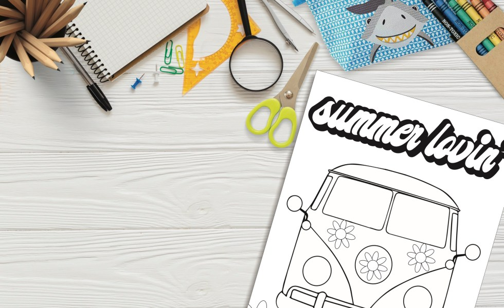 VW Coloring Page Desk Top